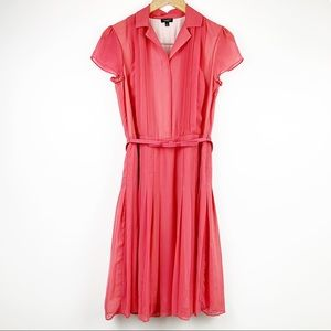 Talbots Cocktail Pleated Dress with Belt 4